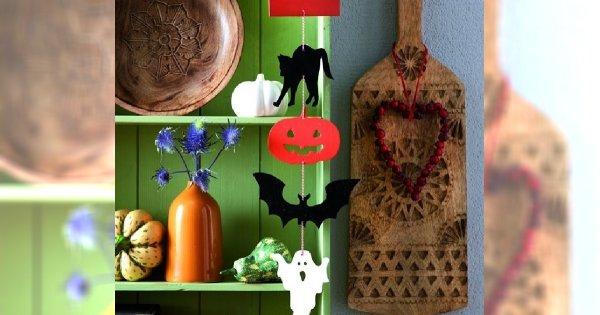 Wiszące ozdoby na Halloween - instrukcja krok po kroku