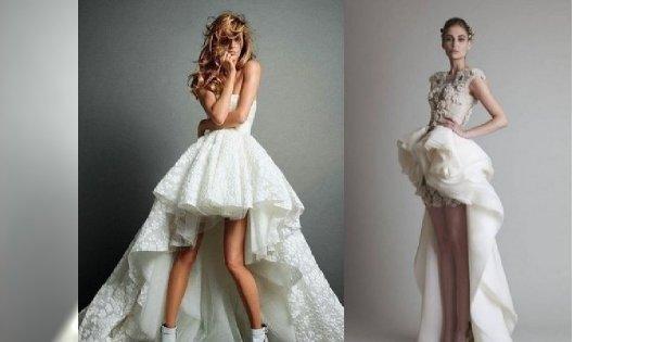 Moda ślubna: asymetryczne suknie ślubne