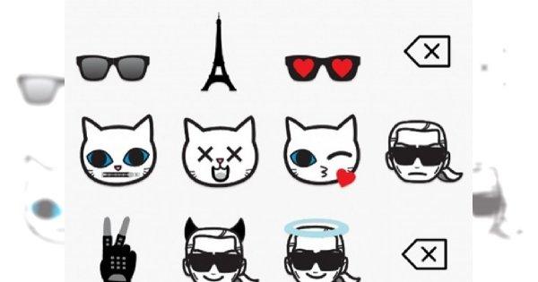 Karl Lagerfeld stworzył nową linię… emotikonek