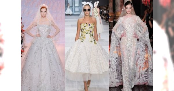 Suknia ślubna jak marzenie - projekty haute couture na jesień 2014
