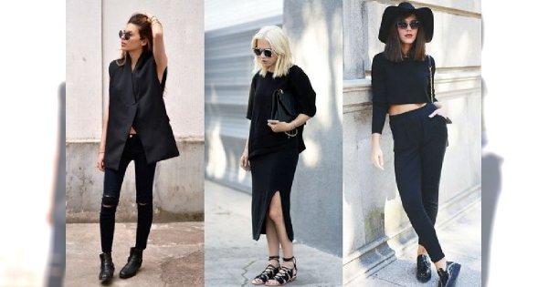 Moda uliczna: czarno na czarnym