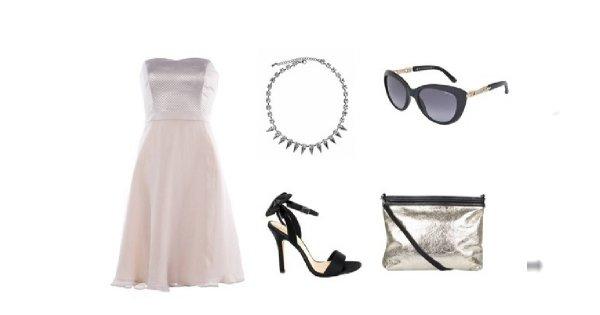 Beżowa baza sukienek na lato
