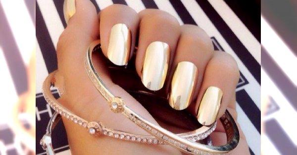 Trendy Manicure Jesień Zima 201415 Metaliczne Paznokcie