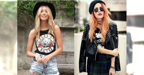 I love rock'n'roll! - stylizacje z koszulkami zespołów