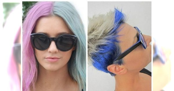Fryzury color-blocking - dwa kolory na głowie