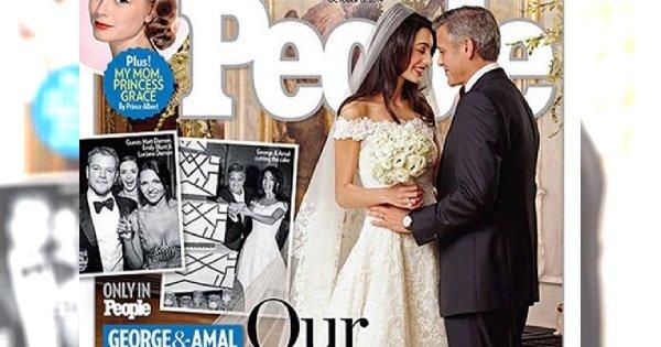 Stylowi nowożeńcy: państwo Clooney!