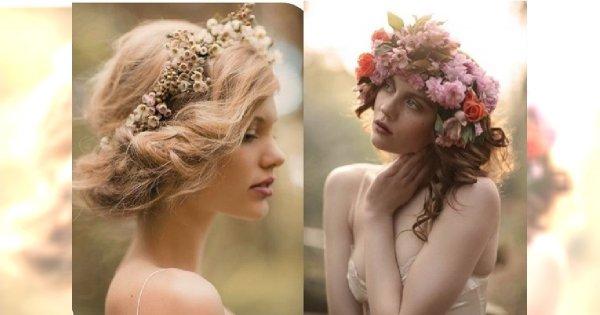 Ślubne wianki - jakie fryzury do nich dobrać