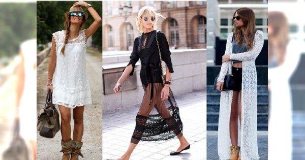 Babie lato w modzie, czyli koronkowe stylizacje