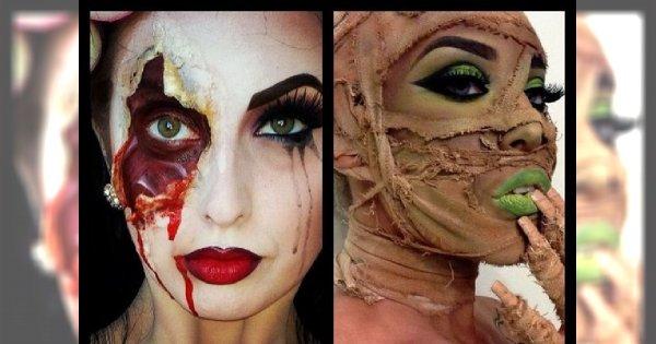 Przerażające makijaże idealne na Halloween