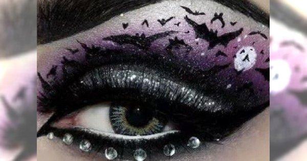 Stylowy makijaż oczu na Halloween