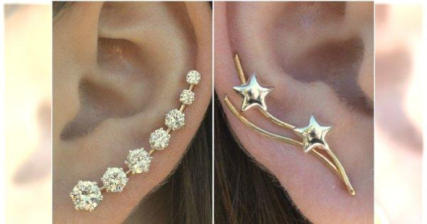 TREND: Ear sweeps - wkręcane kolczyki do uszu