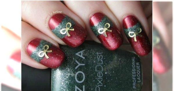 Pomysłowy Manicure Na święta Paznokcie Z Bożonarodzeniowymi Motywami