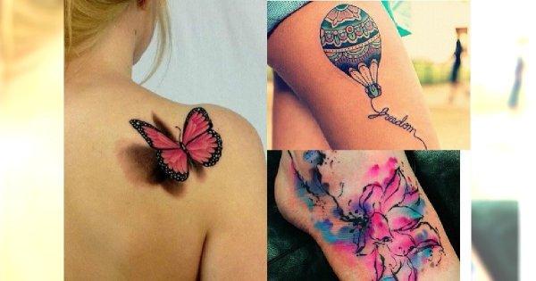 Kolorowe tatuaże - 25 najlepszych wzorów