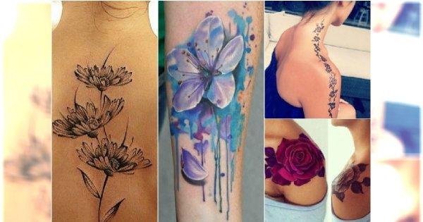 Tatuaże Kwiaty Top 30 Najpięknieszych Wzorów