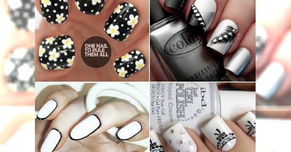Super modny manicure w stylu BLACK & WHITE