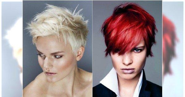 Cieniowane Krótkie Fryzury Galeria Modnego Messy Hair