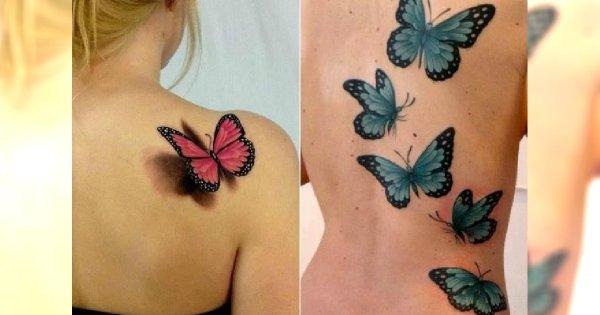 Tatuaz Motyl Kolorowe Wzory Na Nadgarstek Kark I Plecy