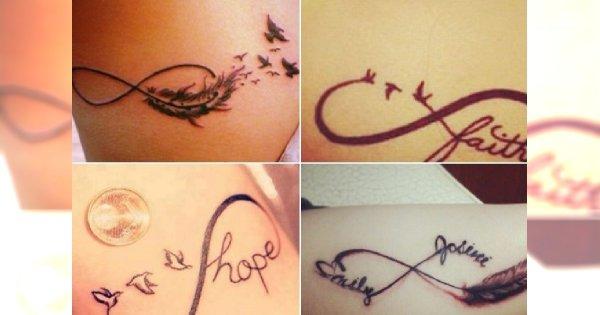 Nieskończoność W Połączeniu Z Motywem Ptaków Tatuaż Idealny Dla