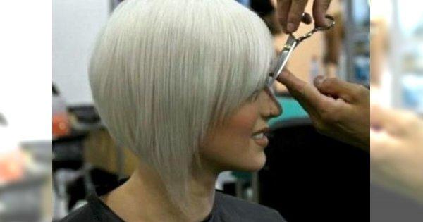 Cięcie w pół szyi dla modnych blondynek - 20 TOP propozycji