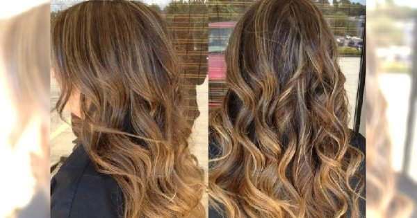 Hot trend w koloryzacji 2015: karmelowe pasemka na ciemnych włosach