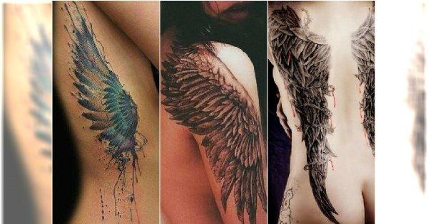 Tatuaż Skrzydła Ptaka I Anioła Wzory Na Plecy Ramiona Kark I Nogi