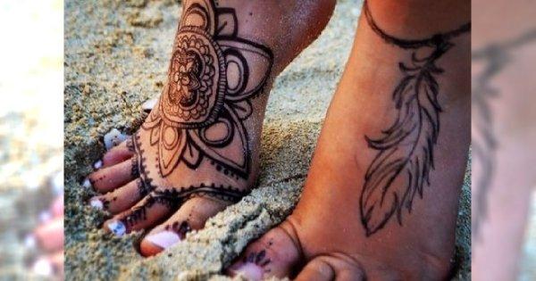 Odkryj Stopy Na Lato Zmysłowe Delikatne I Kobiece Wzory Tatuaży