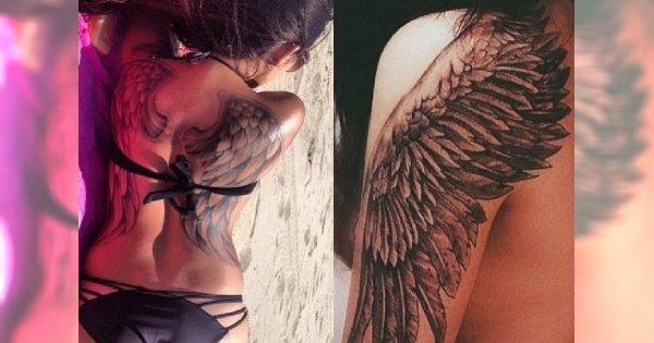 Skrzydła Anioła I Ptaka Najpiękniejsze Wzory Tatuażu Na