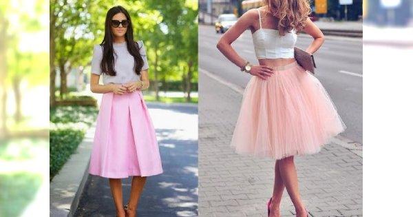 Dziewczęcy must have sezonu - różowa spódnica. 15 HOT stylizacji na wiosnę/lato 2015!