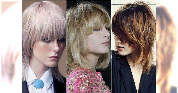 Cieniowane włosy z grzywką - 30 stylowych fryzur choppy