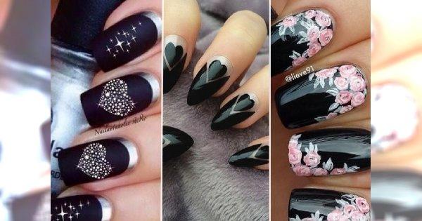 Ożywiamy czarny kolor! Ponad 30 propozycji na stylowy, ciemny manicure