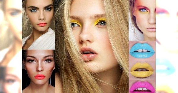 Neonowy makijaż oka i ust - oto 30 inspiracji, które Cię uwiodą!