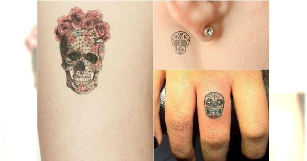 Hot Trend Mały Tatuaż Z Meksykańską Czaszką