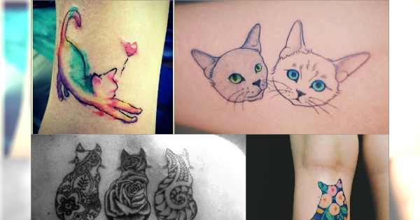 Tatuaże Idealne Dla Miłośników Kotów Przesłodka Galeria Kocich Wzorów
