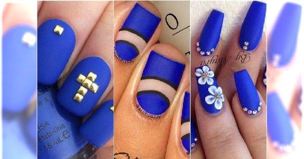 Hit Niebieski Matowy Manicure 15 Pomysł 243 W Na Niezwykłe