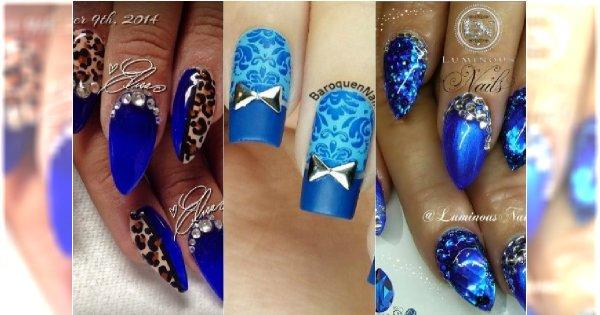 Niebieskie paznokcie jak z bajki! 20 pomysłów na niezwykły manicure