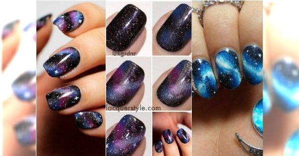 Tutorial Paznokcie Galaxy Krok Po Kroku Kosmiczny Manicure