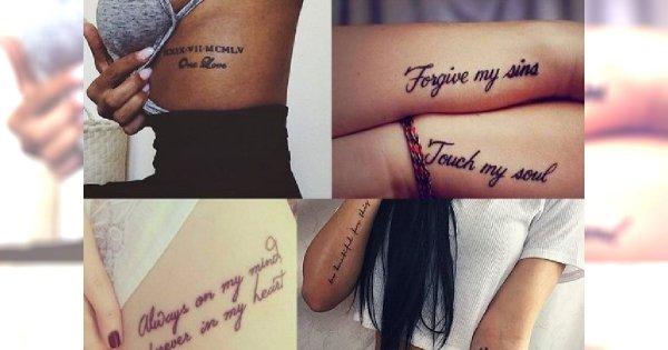 Motyw Który Kochacie Tatuaże Napisy Galeria