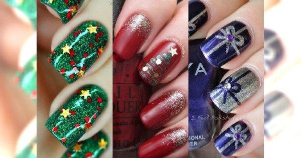 Hot świąteczny Manicure Paznokcie Z Bożonarodzeniowymi Motywami