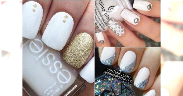 Białe paznokcie z odrobiną luksusu. 20 pomysłów na elegancki manicure