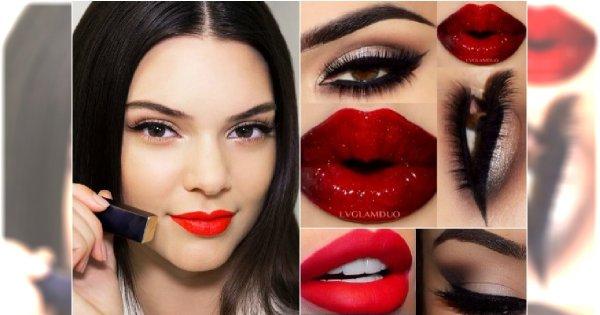 Romantyczny makijaż z czerwonymi ustami - 15 inspiracji na walentynki