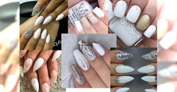 Bardzo Elegancki Biały Manicure Dla Stylowych Kobiet Dużo Zdjęć