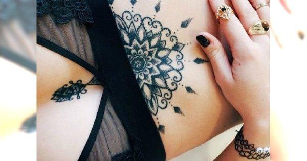 Tatuaż Sternum Wyjątkowe Wzory Które Was Urzekną