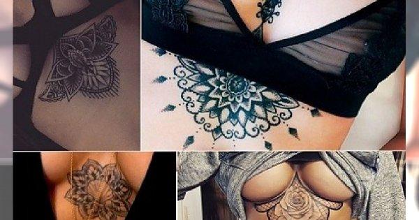 Tatuaż Pod Biustem Niesamowicie Seksowne Wzory Które Was Urzekną