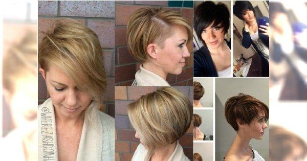 Krótkie Fryzury Asymetryczne Włosy Za Ucho Pixie