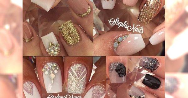 Bogato Zdobiony Manicure Dla Lubiących Luksus Kobiet