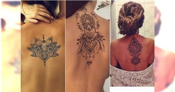 Tatuaż Rozeta Mandala Przepiękne Wzory Dla Kobiet