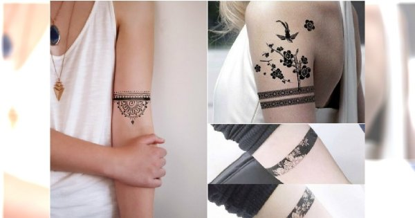 Hot Trend Tatuaż Opaska Najpiękniejsze Wzory Dla Dziewczyn