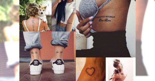 Tatuaże, które uwielbiacie: napisy na udo, rękę, żebra, nadgarstek, obojczyk