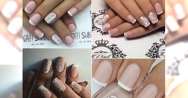French Manicure Piękne Propozycje Na ślubne Paznokcie