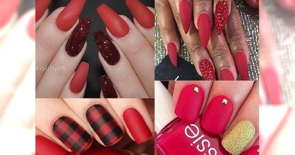 Czerwony Manicure W Niezwykłej Matowej Odsłonie